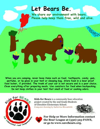 BEAR League - Kids for Bears Poster Project 2004